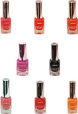 Lorenza Combo Set-30 Nail Lacquer (Pack Of 8) 15 ml