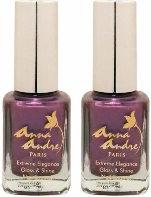 Anna Andre Paris Set of 2 Nail Polishes 9 ml