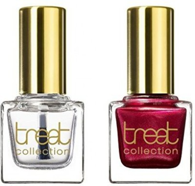 treat collection Natural Duo Top And Base Coat Cherries On Top Count DUO08 15 ml