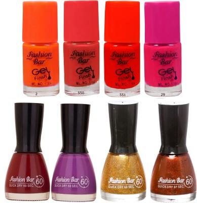 Fashion Bar Neon Shades 236 Nail polishes Combo 56 ml