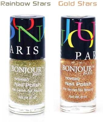 BONJOUR PARIS GLITER Nail Polish Combo 208 12 ml