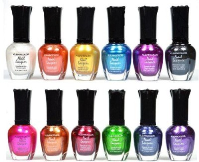 Kleancolor Awesome Metallic Full Size Lacquer Lot Of Set 15 ml