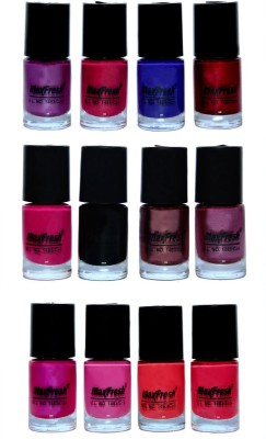 Max Fresh Multicolor 12 Nail Polishs Combo 72 ml