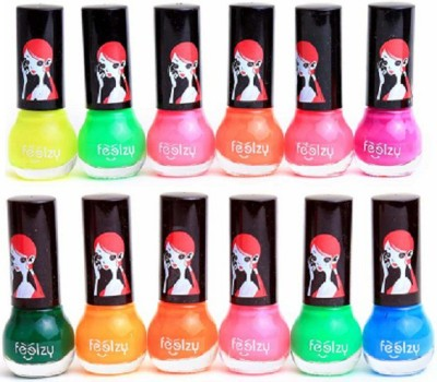 Foolzy Pack of 12 Nail Polish Paint 72 ml