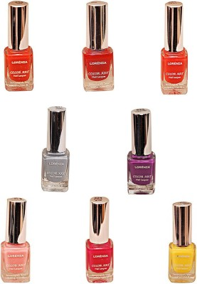 Lorenza Combo Set-11 Nail Lacquer (Pack Of 8) 15 ml