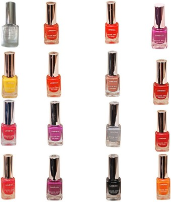 Lorenza Combo Set-3 Nail Lacquer (Pack Of 16) 15 ml
