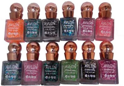 Avlon Glitter Nail Polish A.G.N.P-B12 12 ml