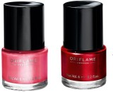 Oriflame Sweden nail polishes set pink c...
