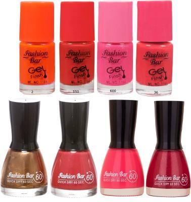Fashion Bar Neon Shades purpule Nail polishes Combo 56 ml