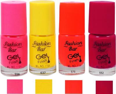 Fashion Bar Nail Polish Neon Combo Pink Yellow 20 ml(Multicolor)