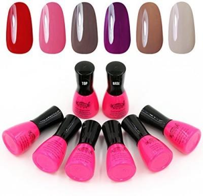 Perfect Summer Colors+Top Coat +Base Coat Uv Gel Nail 2 6 ml