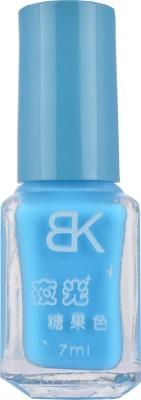BK Glow In Dark Radium Copper Sulphate Blue Colour Nail Polish Imported Varnish Fluorescent Neon Luminous Art Bk - 7 7 ml