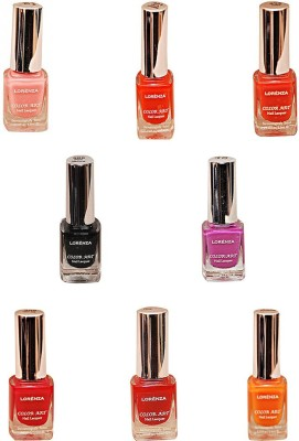 Lorenza Combo Set-2 Nail Lacquer (Pack Of 8) 15 ml