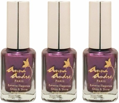 Anna Andre Paris Set of 3 Nail Polishes 9 ml