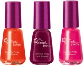 Avon Color Me Pretty Nail Enamel (set of 3) 15 ml(maroon magic-juicy orange-roses)