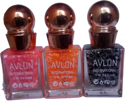 Avlon Glitter Nail Polish A.G.N.P-A3 12 ml