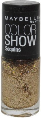 Maybeline New York Color Show Sequins Nail Polish Lacquer, Limited Edition Gold's Night Out #815. 15 ml