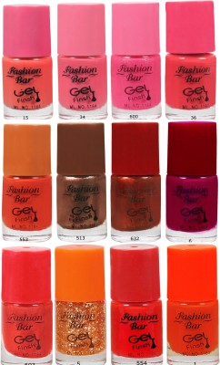 Fashion Bar Neon Nail Polish Combo 07 60 ml(Multicolor)