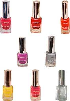 Lorenza Combo Set-7 Nail Lacquer (Pack Of 8) 15 ml