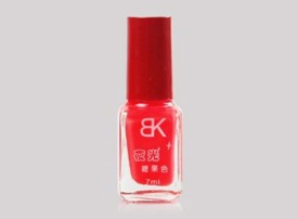 BK Glow In Dark Radium Neon Red Colour Imported Nail Polish Varnish Fluorescent Neon Luminous BK - 20 7 ml