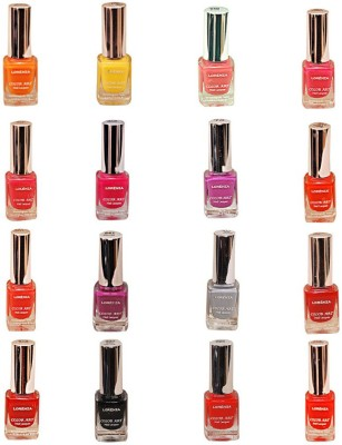 Lorenza Combo Set-2 Nail Lacquer (Pack Of 16) 15 ml