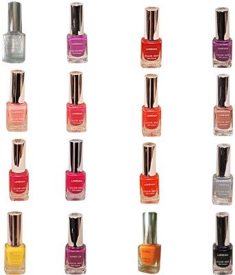 Lorenza Combo Set-4 Nail Lacquer (Pack Of 16) 15 ml