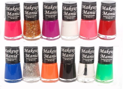 Makeup Mania Exclusive Nail Polish Set of 12 Pcs. 72 ml(Multicolor Set 73)