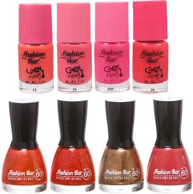 Fashion Bar Neon Shades coco Nail polishes Combo 56 ml