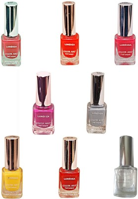 Lorenza Combo Set-25 Nail Lacquer (Pack Of 8) 15 ml