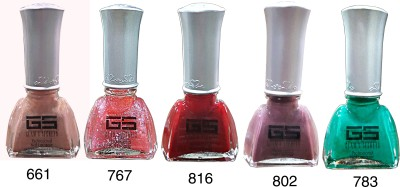 Glam's Secret Set of 5 Nail Paint Model-4 47.5 ml