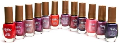 Foolzy Pack of 12 Light Nail Polish Paint 72 ml