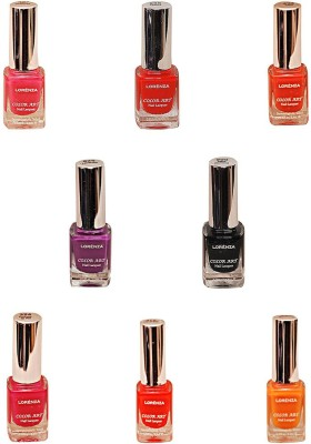 Lorenza Combo Set-6 Nail Lacquer (Pack Of 8) 15 ml