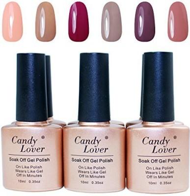 Candy Lover Brand Nail Led Uv Soak Off Nail 6 pcs 10.5 ml