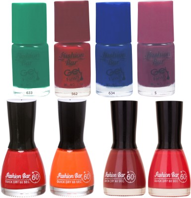 Fashion Bar Neon Shades 243 Nail polishes Combo 56 ml