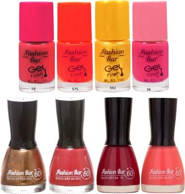 Fashion Bar Neon Shade orange Nail polishes Combo 56 ml