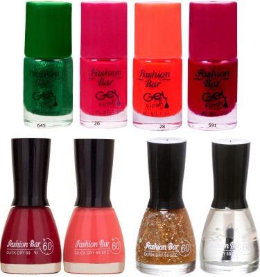 Fashion Bar Neon Shades 247 Nail polishes Combo 56 ml