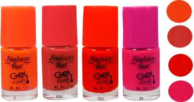 Fashion Bar Pink Orange Nail Polish Combo 20 ml