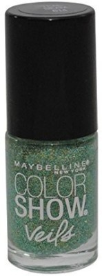 Maybeline New York Color Show Veils Nail Lacquer Top Coat, Teal Beam 15 ml