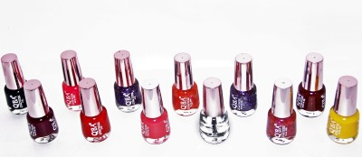 OSRS Pack of 12 Disco Nail Polish Paint 12 ml
