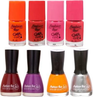 Fashion Bar Neon Shades 237 Nail polishes Combo 56 ml