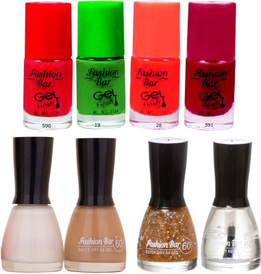 Fashion Bar Neon Shades 252 Nail polishes Combo 56 ml