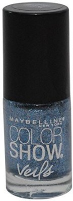 Maybeline New York Color Show Veils Nail Lacquer Top Coat, Blue Glaze 15 ml