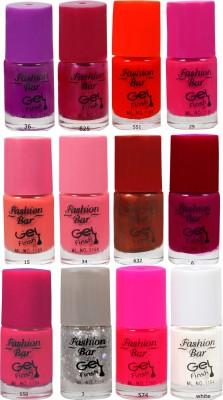 Fashion Bar Neon Nail Polish Combo 08 60 ml(Multicolor)