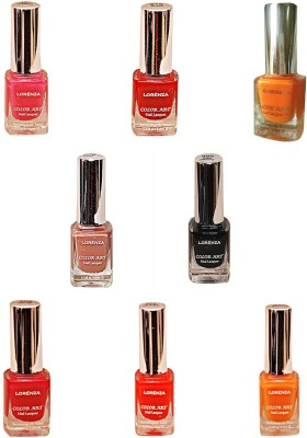 Lorenza Combo Set-28 Nail Lacquer (Pack Of 8) 15 ml
