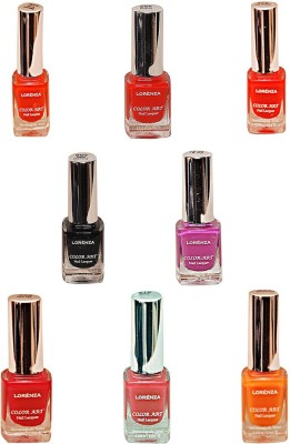 Lorenza Combo Set-12 Nail Lacquer (Pack Of 8) 15 ml