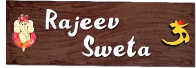SPECTRAHUT Wooden Custom Name Plate