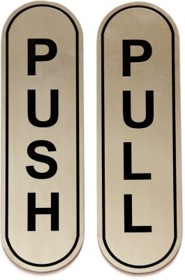 SHREYAS SIGNAGES Steel PUSH PULL, STAINLESS STEEL ETCHING SIGN Name Plate(Black)