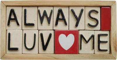 The Nameplate Studio Ceramic Love Name Plate(Multicolor)