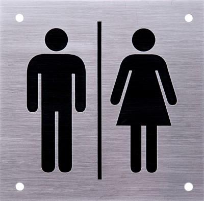SHREYAS SIGNAGES Steel MALE FEMALE UNISEX TOILET LOGO Name Plate(Black)
