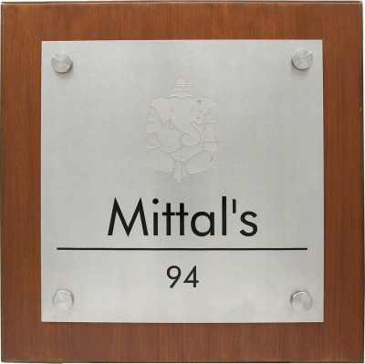 Aluprints Stainless Steel Family Name Plate